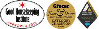 Good Housekeeping Institute Approved 2018, Grocer Food and Drink 2018 & Retail Week 2019
